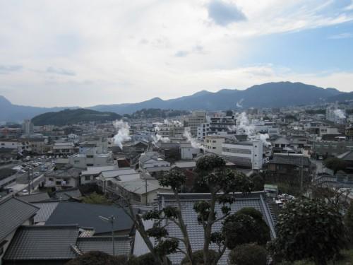 Vista de Beppu, en Oita (Japón).