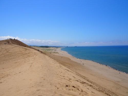 Dunas de arena y mar de Tottori.
