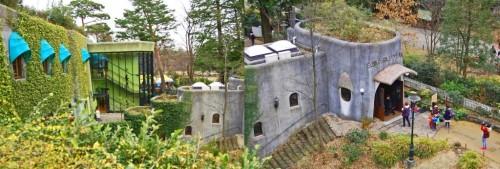 Jardines en la azotea del Museo Ghibli de Tokio