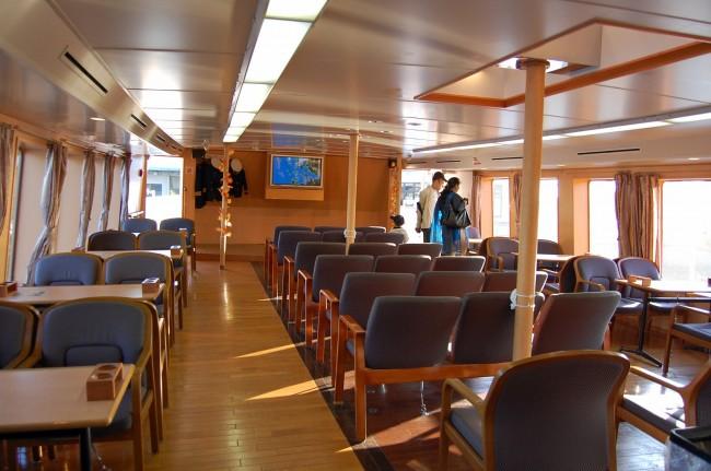 Interior de un crucero de Kujukushima, Nagasaki