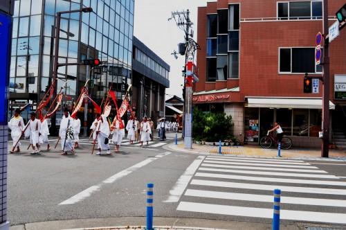 Desfile en el festival matsuri de Tanabe, Wakayama.