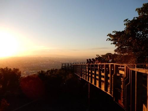 Atardecer desde el observatorio del monte Ikoma, en lo alto de la cima