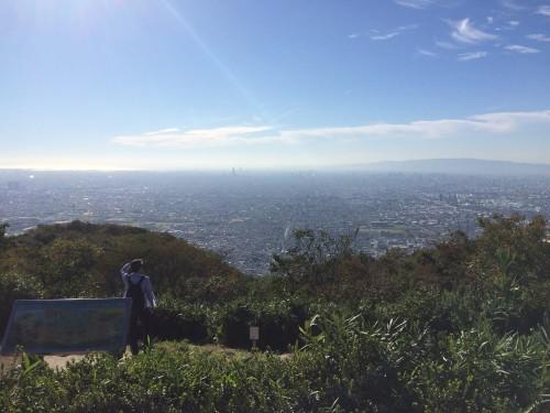 Vistas de Kioto y Osaka desde la cima del monte Ikoma