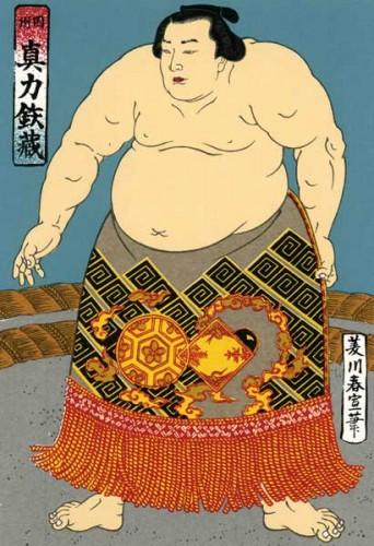 Dibujo de un luchador de sumo japonés