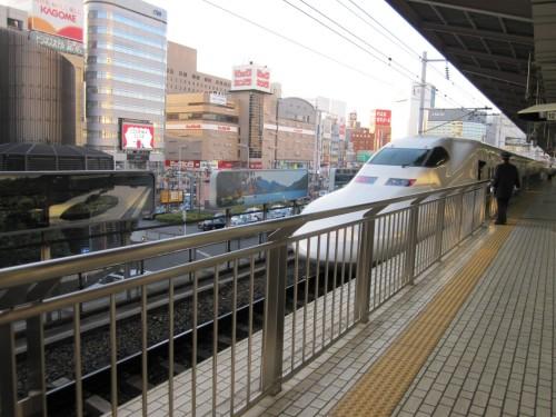 Tren bala Shinkansen en Japón