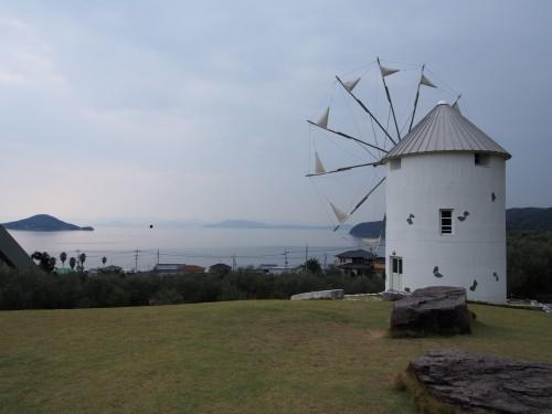Molino de estilo europeo en la isla de Shodoshima (Japón)