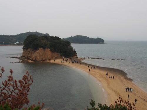 'Angel Road', pequeña manga de arena sobre el mar en Shodoshima (Japón)