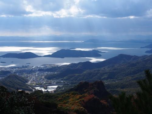 Panorama de Shodoshima desde las montañas