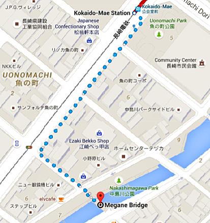 plano tranvía nagasaki