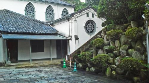 Exterior del museo de la Iglesia de Oura en Nagasaki