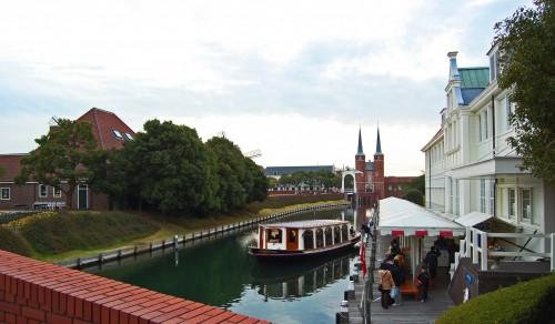 Canales de Huis Ten Bosch, parque temático holandés en Nagasaki