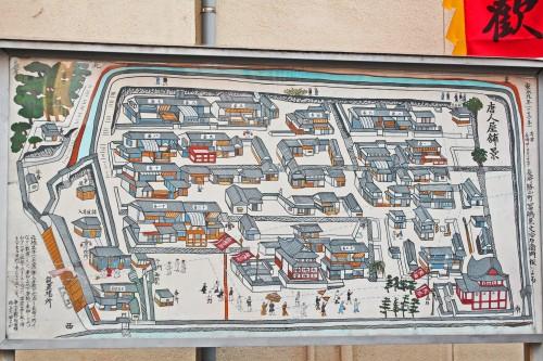 Plano del Chinatown de Nagasaki, en el que se celebra el Festival de las Linternas