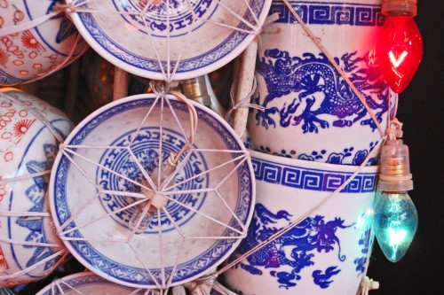 Cerámica china en el Festival de las Linternas de Nagasaki