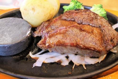 Filete 'kobe beef' japonés, comida a base de carne