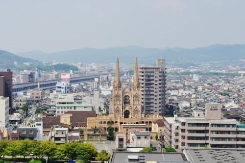 Panorama de Fukuyama visto desde la última planta del Castillo de Fukuyama