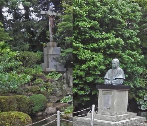 Busto conmemorativo de la Iglesia de Oura en Nagasaki