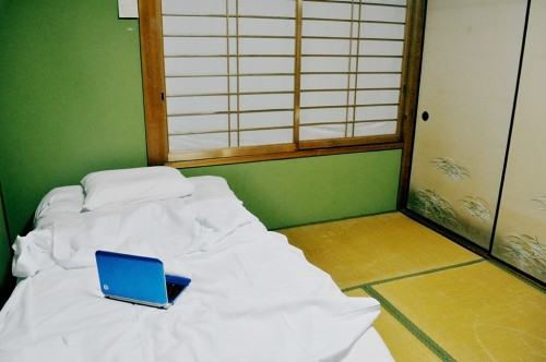 Habitación individual de la guest house Kumano Backpackers en Hongu (Wakayama)