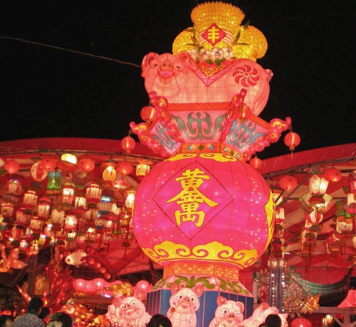 Farolillos en el Festival de las Linternas de Nagasaki