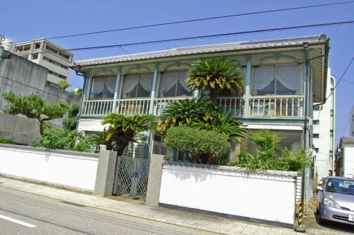 Casa de estilo europeo en Higashiyamate, en la Cuesta de los Holandeses de Nagasaki