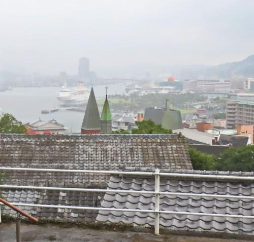 Vistas de la Bahía de Nagasaki desde los jardines de Glover