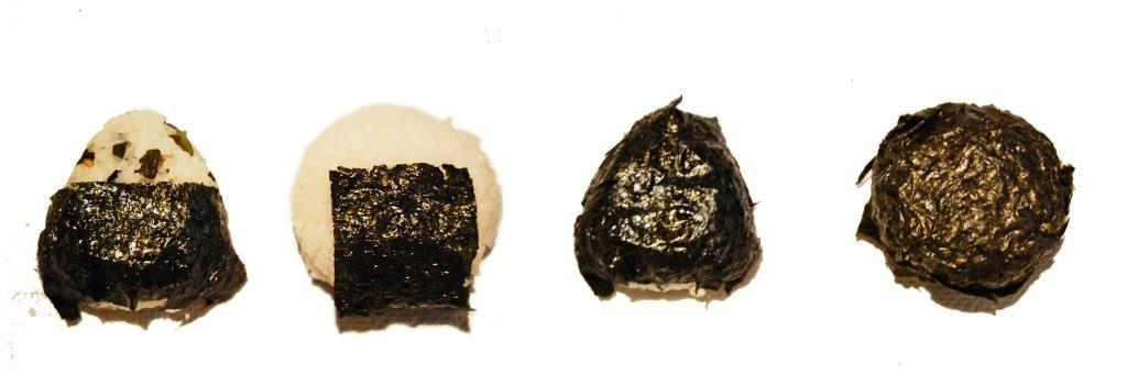 distintas formas del onigiri