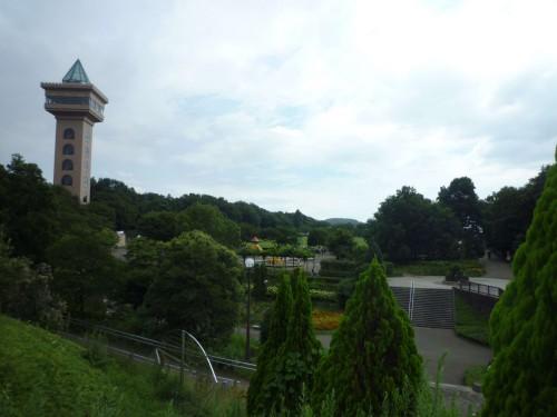 Torre y jardines del Parque Samagihara (Japón)