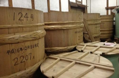 Cubos para la fermentación de sake
