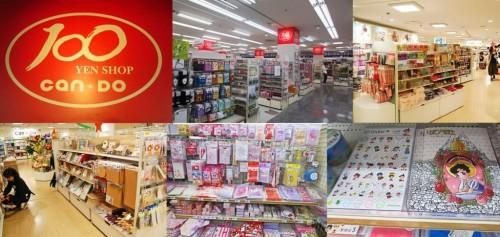 Tienda japonesa Cando de todo a 100 yenes.