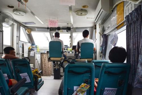 Ferry a Fukashima, la isla de los gatos de Oita.