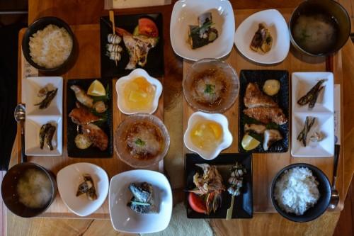 Menú del restaurante Fukashima Shokudo.
