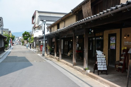 Tienda de artesanía de Hida, el pequeño Kioto de Oita.