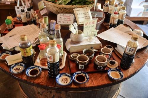Tienda de salsa de soja en Hita, Oita.