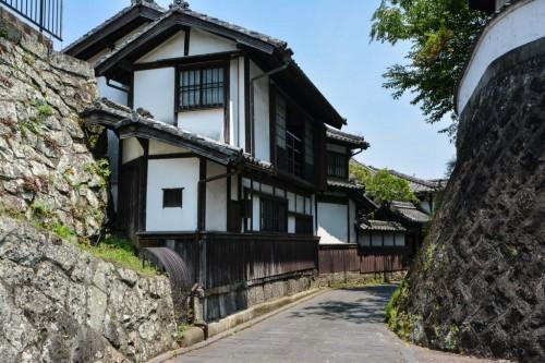 Calle samurái de Usuki, ciudad de Oita.