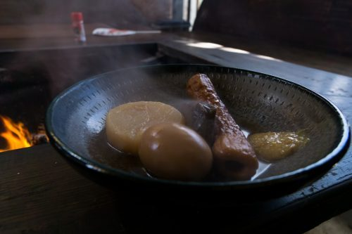 Comida en Botanchaya.