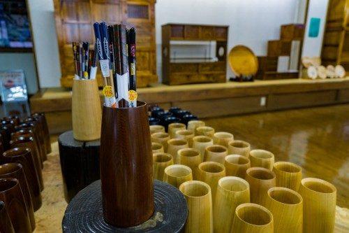 Soporte para palillos chinos de Rokuro Zaiku no Yamaichi.