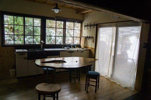 Cocina del Hotel Yuian de Nagiso.