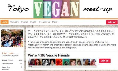 Foro meetup para veganos en Japón.