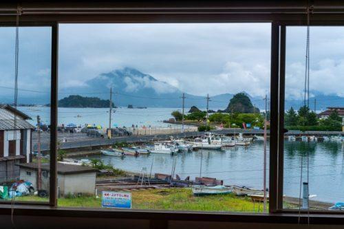 Vista desde la habitación privada de Kame House