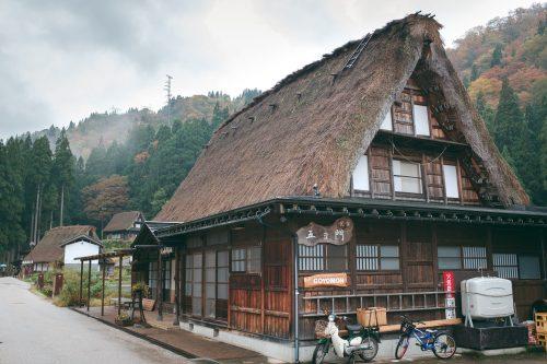 Traditional architecture in UNESCO World Heritage site Gokayama village, Toyama Prefecture, Japan