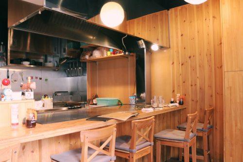 Okonomiyaki en el barrio de Koenji, Suginami, Tokio, Japón