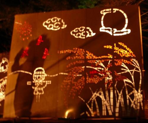 Festival de las linternas de Ogi entre colores otoñales