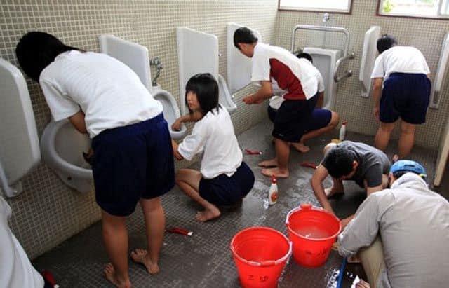 Dans un lycée japonais