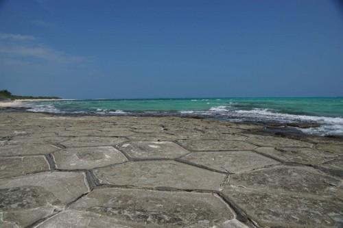 "Okinawa, les rochers ""Tatami"" de Kumejima"