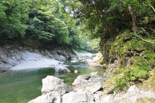 Faire du rafting dans la rivière Iya sur l'île de shikoku au Japon