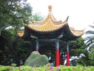 Pavillon du jardin de l'île d'Enoshima.