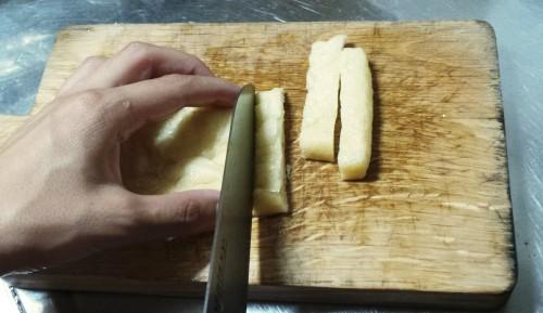 Tofu frit, que l'on retrouve parfois dans la soupe miso.