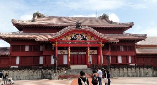 Façade du château Shurijo de Naha à Okinawa