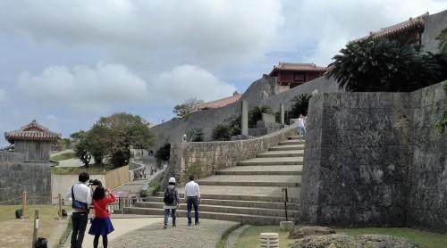 Entrée du château Shurijo de Naha à Okinawa