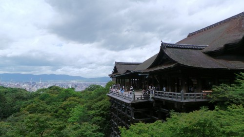 Vue du temple Kiyomizudera à Kyoto