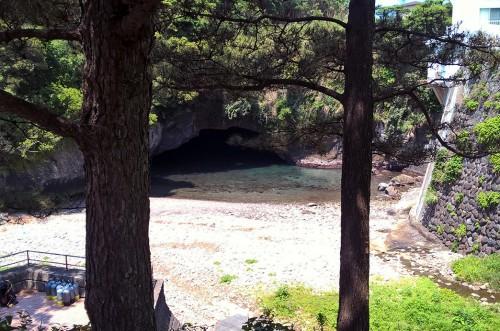 Petit parc le long de la falaise à Dôgashima sur la péninsule Izu.